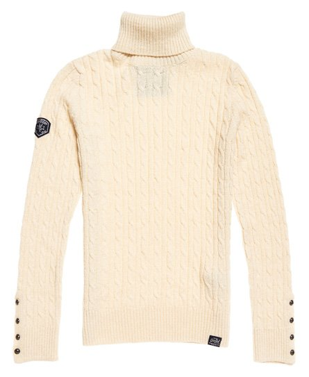 fef1b9514 Womens - Croyde Roll Neck Cable Knit Jumper in Winter Marl