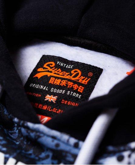 Superdry Sweat Shirt Shop Camo Raglan Hoodie