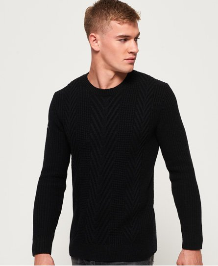 Superdry Premium Tuno Cable Crew Jumper