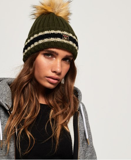 Superdry Aimee Stripe Ribbed Beanie