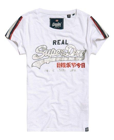 Superdry Vintage Logo Regal T-Shirt mit Streifen