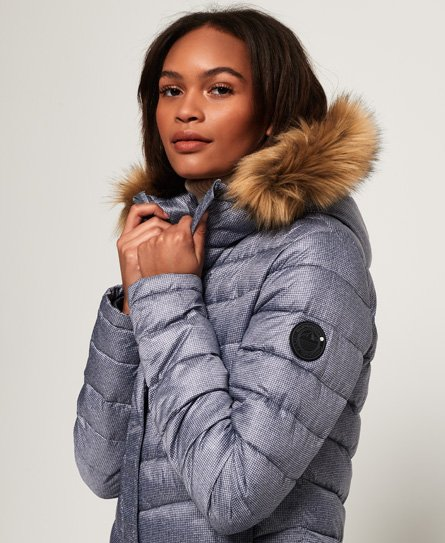 Superdry Giubbotto Chevron Faux Fur Super Fuji
