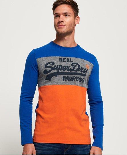 Superdry T-shirt à manches longues avec empiècements et logo Vintage