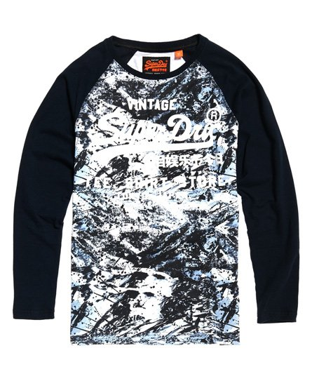 75ba55ea Superdry Shirt Shop Camo-T-skjorte med lange ermer - Herre T-skjorter