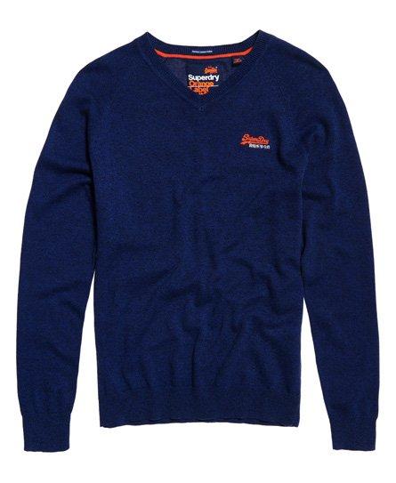 Superdry Orange Label Cotton Vee Neck Jumper