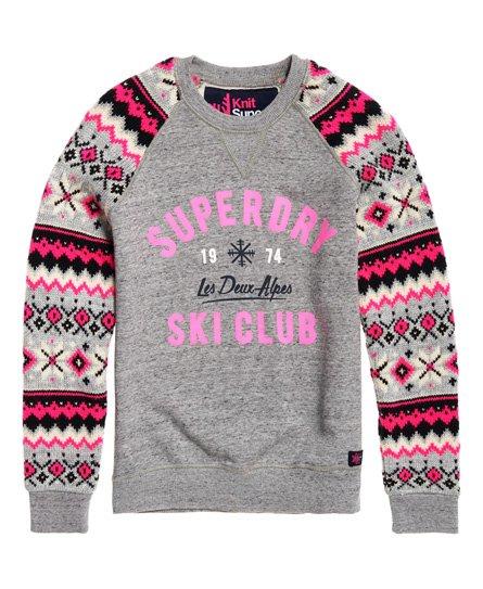 Superdry Dakota Fairisle Crew Sweatshirt