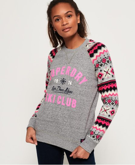 Superdry Dakota Fairisle Crew Sweatshirt