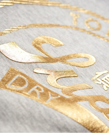 Superdry Ace Metallic Crop Hoodie