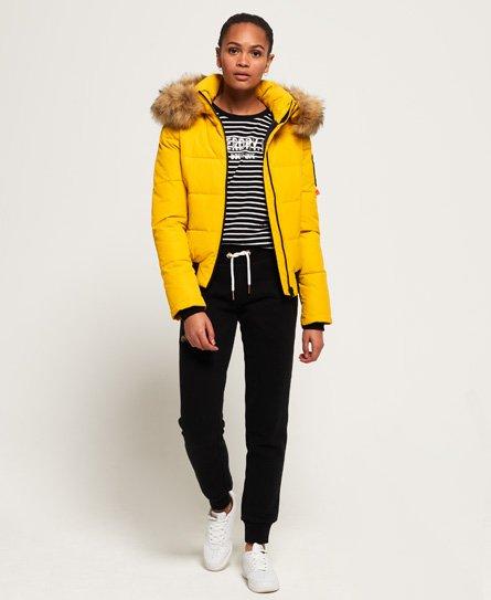 Womens Everest Ella Bomber Jacket In Golden Yellow Superdry