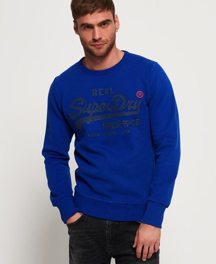 Superdry Vintage Logo Panel Stripe Sweatshirt