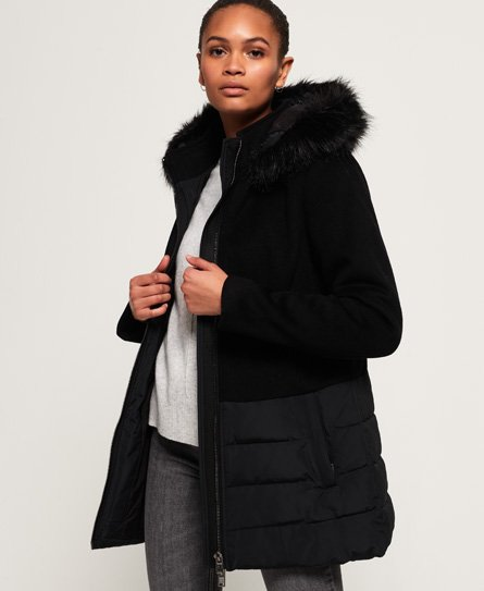 Superdry Wool Padded Hybrid Coat