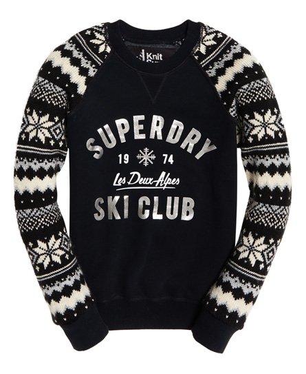 Superdry Sweat-shirt jacquard à col ras du cou Dakota