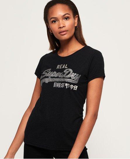 Superdry T-shirt brillant à logo Vintage