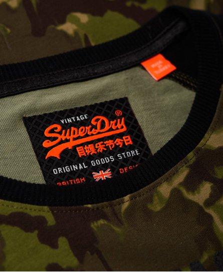 Superdry Shirt Shop Camo Long Sleeve T-Shirt