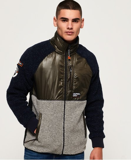Superdry Mountain Sherpa Block Track-topp