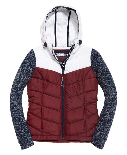 Superdry Storm Hybrid Colour Block Zip Hoodie
