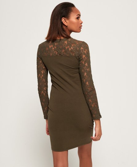 Superdry Lace Panelled Mini Dress
