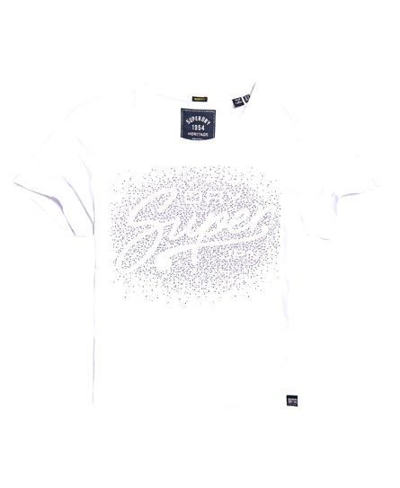 Superdry T-Shirt Super Script Rhinestone Scatter Box Fit
