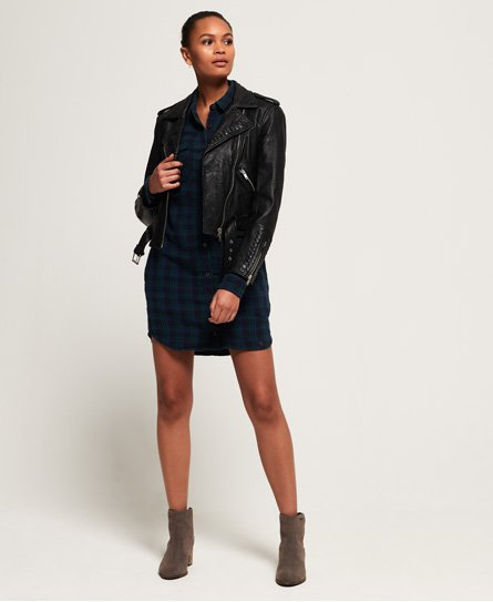 Superdry Willow Check Shirt Dress