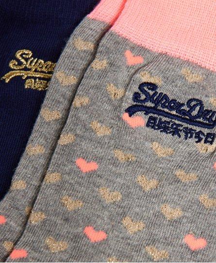 Superdry Lot de deux paires de chaussettes scintillantes sur l'ensemble