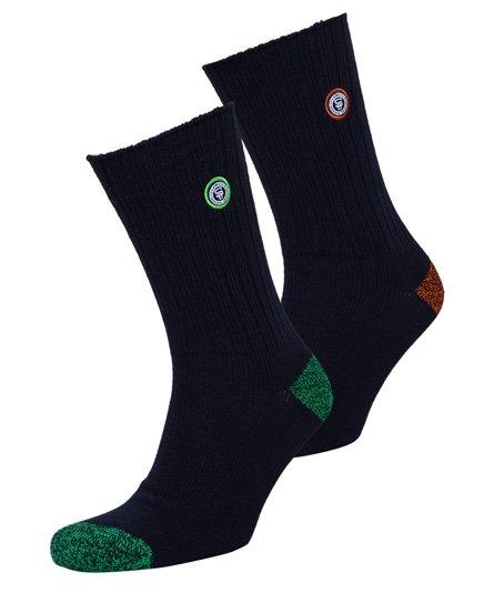 Superdry University Socken mit Aufnäher im 2er-Pack