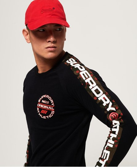 Superdry Trophy Camo Splat Long Sleeve T-Shirt
