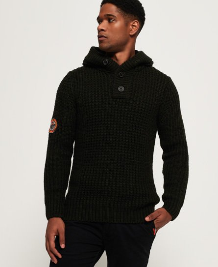 Superdry Ski Racer Henley Hooded Jumper