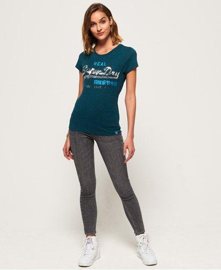 Superdry Vintage Logo T-Shirt mit Paillettenbesatz