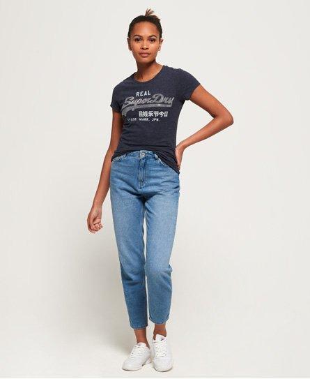 Superdry T-shirt Rhinestone con logo Vintage