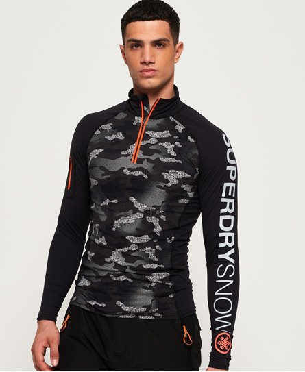 Superdry Carbon Base Layer Half Zip Top