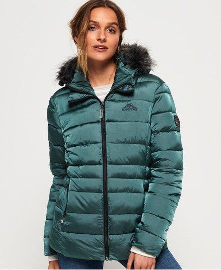 Superdry Vatteret Taiko jakke med imiteret pels