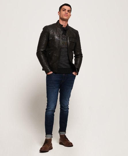 Superdry Endurance Moto X Leather Jacket