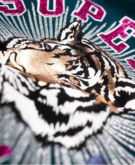 Superdry Tigers 1976 Glitzer-Hoodie