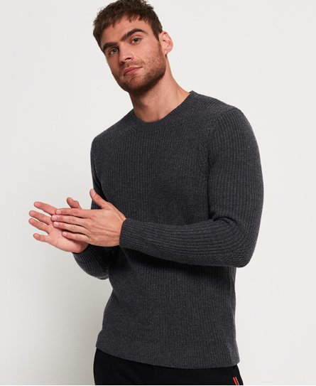 Superdry Premium Through Stitch Crew Neck Jumper