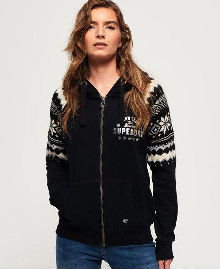 Superdry Dakota Fairisle Zip Through Hoodie