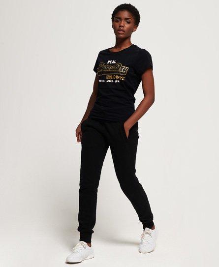 Superdry T-shirt con logo Vintage Duo effetto laminato