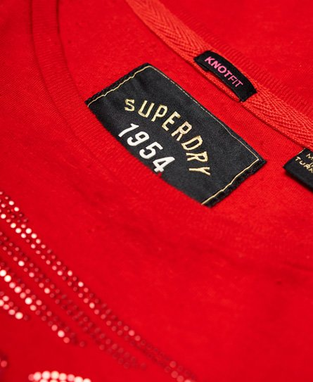 Superdry T-shirt Deluxe 77 con nodo sul davanti