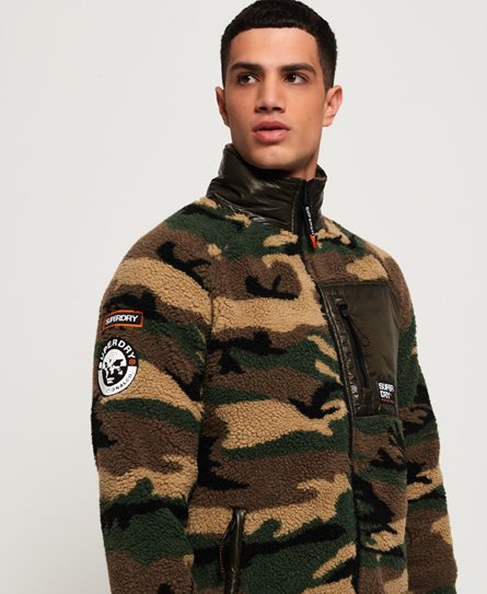 Superdry Mountain Sherpa Camo Track Top