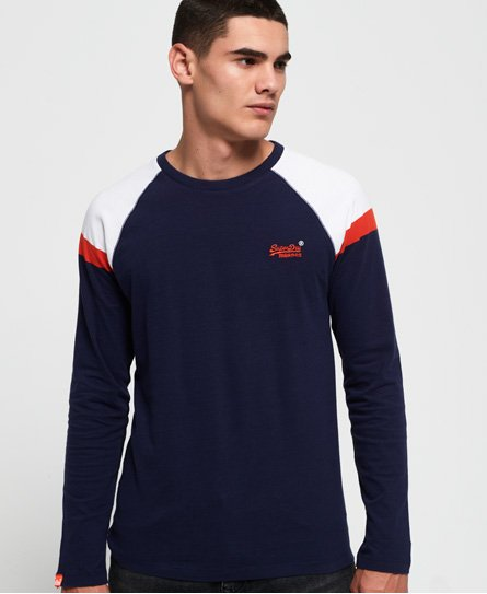 Superdry Engineered Baseball top met lange mouwen