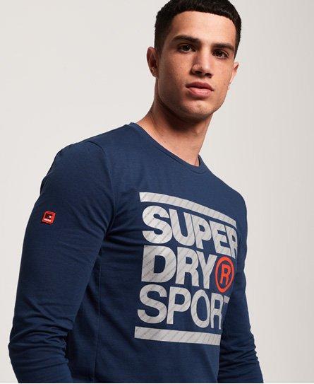 Superdry Camiseta de manga larga con gráfico Core