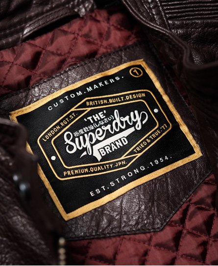 Superdry SD Endurance Indy Circuit Leather Jacket