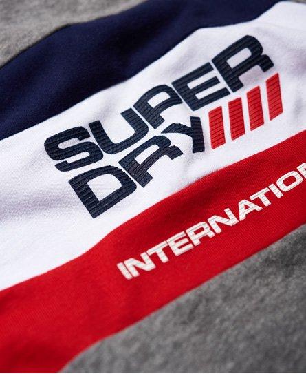 Superdry Camiseta tricolor de manga larga Trophy
