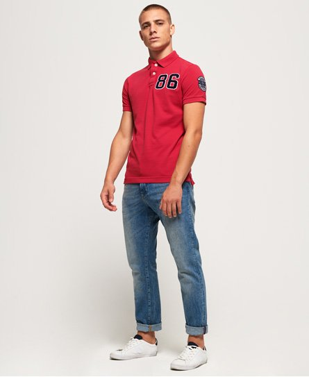 Superdry Vintage Destroy Patch Polo Shirt