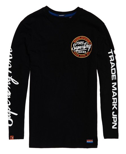 Superdry Ticket Type Oversized T-skjorte med lange ermer