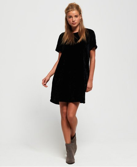 Leonie Velvet T-Shirt Dress
