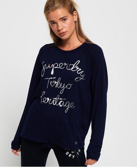 Olivia loungewear-top med rund hals95164