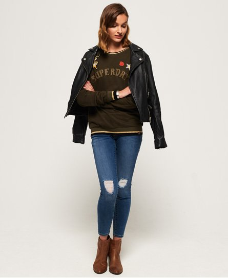 Superdry Ras Cou Du Army Rose Sweat 40w4rpqa