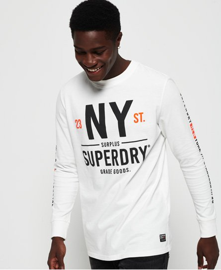 Superdry Surplus Goods Oversized T-shirt met lange mouwen