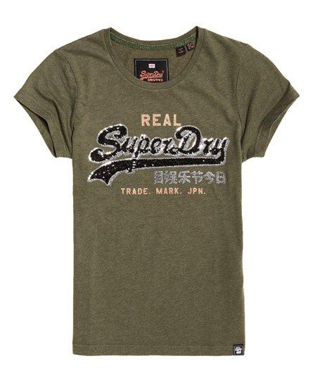 Superdry T-shirt con logo Vintage Star Sequin