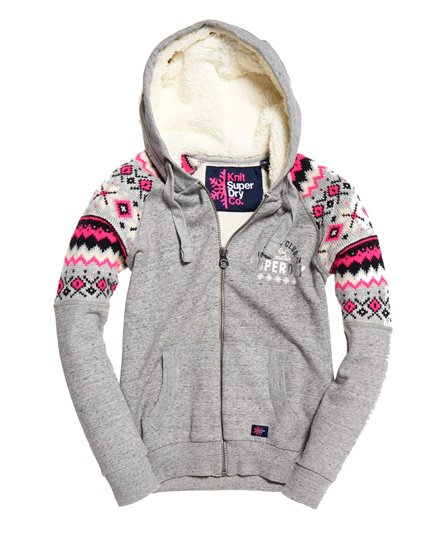 Women's Through Fairisle Dakota Hoodie Zip Superdry Hoodies g7aX8qx